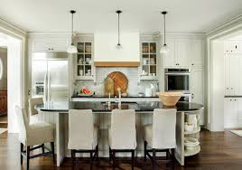 oval kitchen islands island end shelves design ideas