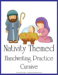 nativity themed handwriting practice the multi taskin