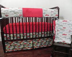 Truck Crib Bedding Trucks Crib Bedding Etsy