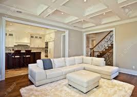 Immobilien Haus Elegantes Wohnzimmer In Einem Luxus Immobilien Haus Lizenzfreie