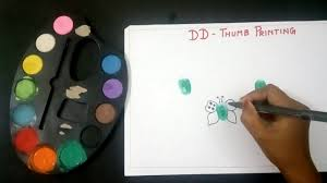 thumb painting butterfly thumb printing for kids youtube
