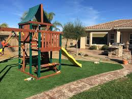Artificial Grass Backyard by Synthetic Turf Bohemia New York Kids Care Back Yard