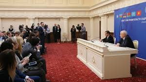 Russian Cabinet Meeting Of The Cis Council Of Heads Of Government The Russian