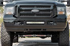 f250 led light bar rou 70667 rough country 05 07 ford f250 f350 x5 20in led bumper