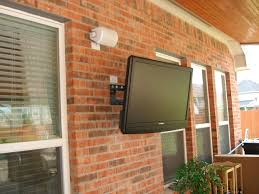 outside home theater gallery out door swimming pool patio tv install houston home