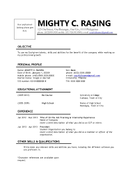 Sample Resume With Internship Experience by Sample Resume