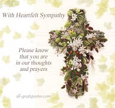 Sympathy Flowers Message - with heartfelt sympathy please know that you are in our thoughts