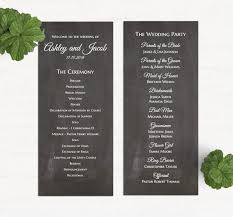 Wedding Program Chalkboard 91 Best Wedding Programs Images On Pinterest Seating Charts