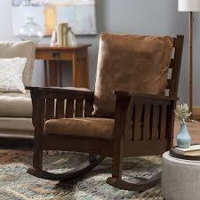 Rocking Chairs For Adults Belham Living Remington Mission Rocker Walnut Hayneedle