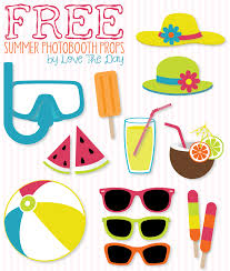 Printable Photo Booth Props Summer | free beach party printables diy photobooth summer and photo booth