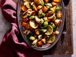 Mediterranean Style Roasted Vegetables Lemon Herb Sheet Pan Roasted Vegetables Recipe Cooking Light