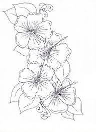 coloring pictures of hibiscus flowers hibiscus flower hibiscus flower drawing coloring page