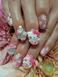 25 best nail art hello kitty ideas on pinterest