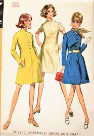 1960s mod coat and dress pattern mccalls 9577 lovely princess