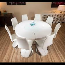 Gloss White Dining Table And Chairs Dining Rooms Impressive White Gloss Dining Chairs Images Black