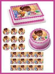 edible prints doc mcstuffins 2 edible birthday cake or cupcake topper edible