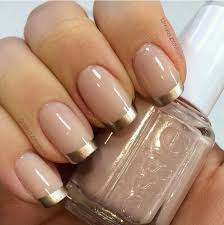w gold french manicure nails pinterest manicure