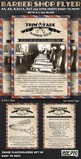 barber shop flyer template on behance