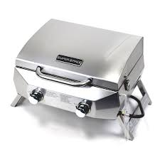 Topgrill Patio Furniture by Superspace 20 000 Btu 2 Burner Stainless Steel Bbq Tabletop