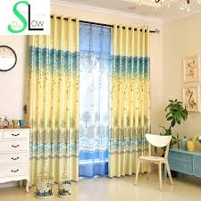 Yellow And Blue Curtains Blue And Yellow Curtains Teawing Co