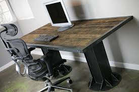 Custom Computer Desk Design by Tables Modern Industrial I Beam Desk Vintage Modern Custom Sizes