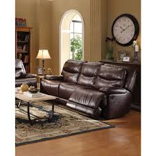 Acme Living Room Furniture by Cerviel Power Motion Sofa In Burgundy Leather Aire By Acme