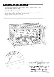 Meadowdale Convertible Crib Westwood Design Meadowdale Convertible Crib Guard Rail User Manual