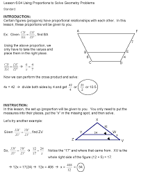 cosgeometry lesson 6 04 using proportions to solve geometry problems