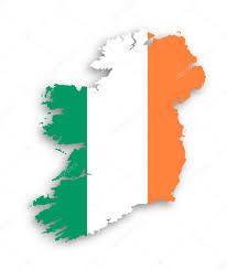 Flag Of Ireland Map Of Ireland With Flag Inside U2014 Stock Photo Michaklootwijk
