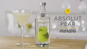 martini pear absolut pear martini youtube