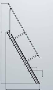 leiter f r treppe treppe stationär ohne podest stufenbreite 600 mm treppenneigung 60