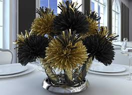 black and gold centerpieces bar mitzvah and bat mitzvah centerpieces and party favors party