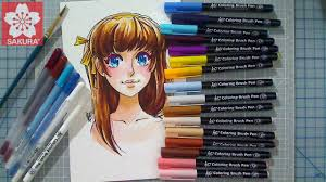 create skin tones with water color koi coloring brush pens youtube