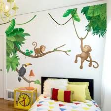 jungle monkey children s wall sticker set by oakdene designs jungle monkey children s wall sticker set