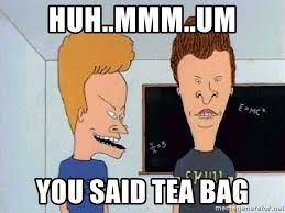 Tea Bag Meme - huh mmm um you said tea bag beavis and butthead meme generator