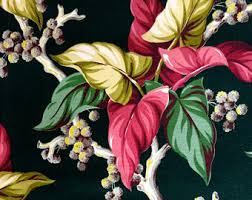 Tropical Upholstery Schumacher Fabric 2 5 Yardage Upholstery Drapery Cloth Remnant