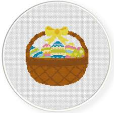 easter egg basket easter egg basket cross stitch pattern daily cross stitch