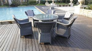 Grey Rattan Outdoor Furniture by Conservatory 6 Seater Grey Rattan Dining Table Furniture Maxi