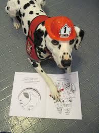 sparkles fire safety dog free fire safety coloring pages