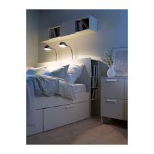 Tidy King Bed With Storage by Brimnes Headboard With Storage Compartment Full Double Ikea