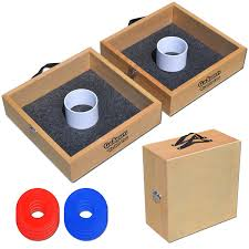 outdoor best birch wood washer toss game with washers game rules
