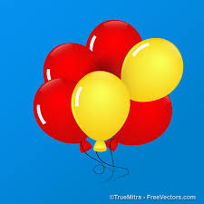 balloons that float five balloons float in blue sky vector free