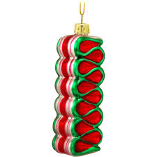 candy ornaments ribbon candy glass ornament food beverage christmas