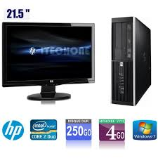 recycler ordinateur de bureau pc de bureau hp 6000 pro 2 duo 3 00 ghz ram 4 go hdd 250