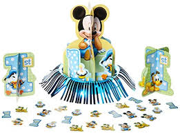 mickey mouse 1st birthday mickey mouse 1st birthday table decorating kit
