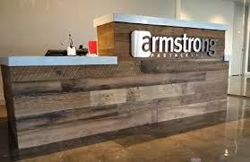 Reception Desk Wood 32 Awesome Reclaimed Wood Reception Desk Images Office