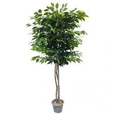 lalu home 5 foot lavish silk artificial ficus tree with