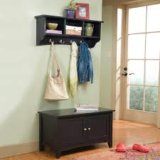 Entryway Storage Bench With Coat Rack Practical Entryway Storage Bench With Coat Rack Home Improvement