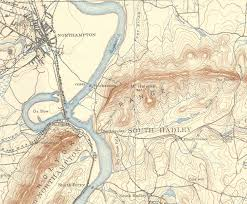 Amherst College Map Northampton Amherst Hadley Old Usgs Old Topo Map Massachusetts