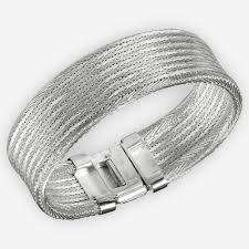 silver woven bracelet images Plain wide handwoven sterling silver cuff bracelet zanfeld jewellery jpg